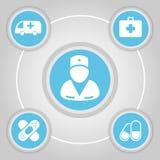 Botones médicos y vector de las muestras Imágenes de archivo libres de regalías