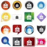Botones múltiples - iglesia stock de ilustración