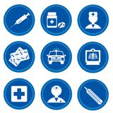 Botones. Medicina Imagenes de archivo