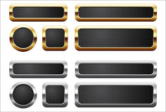 Botones metálicos Fotos de archivo libres de regalías