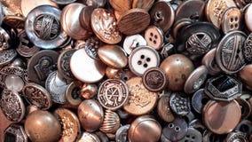 Botones metálicos Imagen de archivo libre de regalías