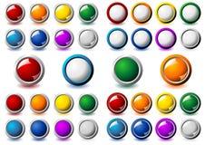 Botones metálicos del marco
