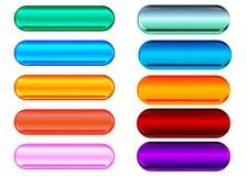 Botones metálicos y de cristal Fotos de archivo libres de regalías