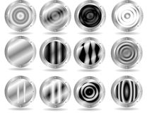 Botones metálicos del Web Imagen de archivo libre de regalías