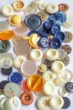 Botones mezclados Foto de archivo libre de regalías