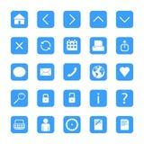 Botones minimalistas del web Fotos de archivo libres de regalías