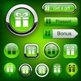 Botones modernos alto-detallados del regalo. Fotografía de archivo libre de regalías