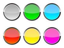 Botones modernos del Web Ilustración del Vector