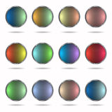 Botones multicolores Fotos de archivo