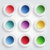 Botones multicolores Fotos de archivo libres de regalías