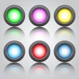 Botones multicolores Imagenes de archivo