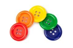 Botones multicolores Foto de archivo libre de regalías