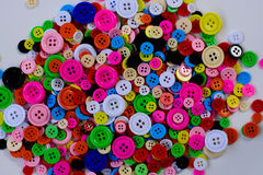 Botones multicolores brillantes Foto de archivo