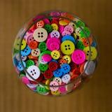 Botones multicolores brillantes Imagen de archivo libre de regalías