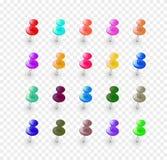Botones multicolores determinados Imágenes de archivo libres de regalías