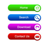 Botones multicolores para el sitio ilustración del vector