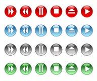 Botones musicales ilustración del vector