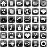 Botones negros Fotografía de archivo libre de regalías