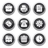 Botones negros de la oficina Fotos de archivo