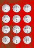Botones numéricos del código Foto de archivo libre de regalías