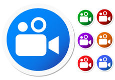 Botones o iconos de la cámara Fotos de archivo