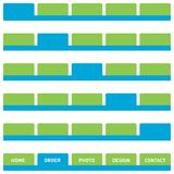 Botones o tabulaciones del Web