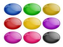 Botones ovales brillantes del Web Fotografía de archivo libre de regalías