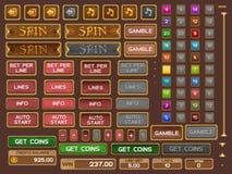 Botones para el juego de las ranuras Foto de archivo libre de regalías