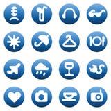 Botones para el ocio y los servicios de hotel Imagen de archivo libre de regalías