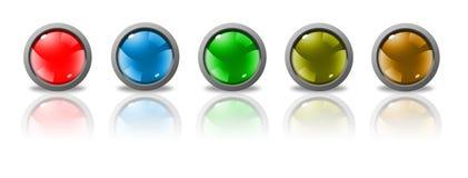 Botones para el Web Foto de archivo