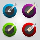 Botones para el web con los iconos de la herramienta Imágenes de archivo libres de regalías