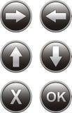 Botones para el Web site Fotos de archivo libres de regalías