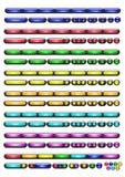 Botones para el Web site Imagen de archivo
