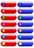 Botones para el Web site Fotografía de archivo