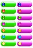 Botones para el Web site Fotografía de archivo libre de regalías