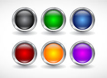 Botones para el Web. Vector. ilustración del vector