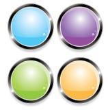 Botones para el Web (vector) Imagen de archivo