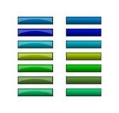 Botones para el Web - verde azul Imagen de archivo libre de regalías