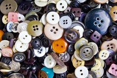 Botones para la ropa Foto de archivo