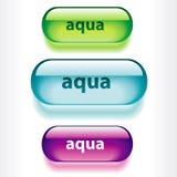 Botones para las aplicaciones web. Fotografía de archivo