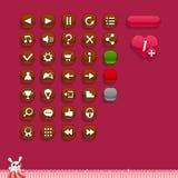 Botones para los interfaces del juego Fotografía de archivo