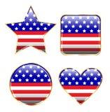 Botones patrióticos Imagenes de archivo