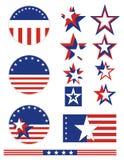 Botones patrióticos - los E.E.U.U. Fotos de archivo libres de regalías
