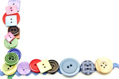 Botones plásticos fotos de archivo