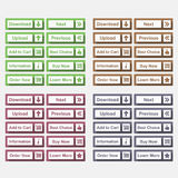 Botones planos Imagen de archivo