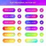 botones poligonales del vector de la pendiente libre illustration