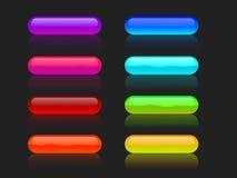Botones que brillan intensamente Imagen de archivo libre de regalías