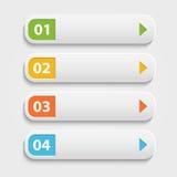 Botones realistas del web del vector, infographic con Imagen de archivo libre de regalías