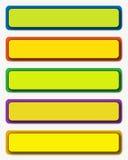 Botones rectangulares Fotos de archivo