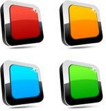 Botones rectangulares 3d. Fotos de archivo